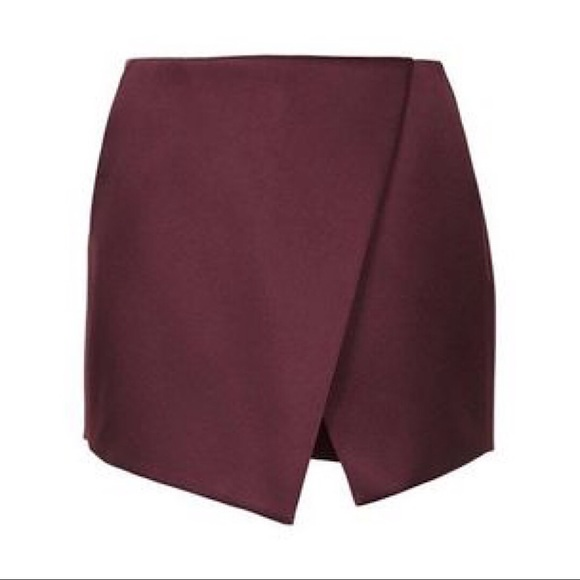 Bordeaux Topshop Skirt with Shorts